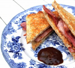 Post Pilates Bacon Sarnie with Vogel's Toast